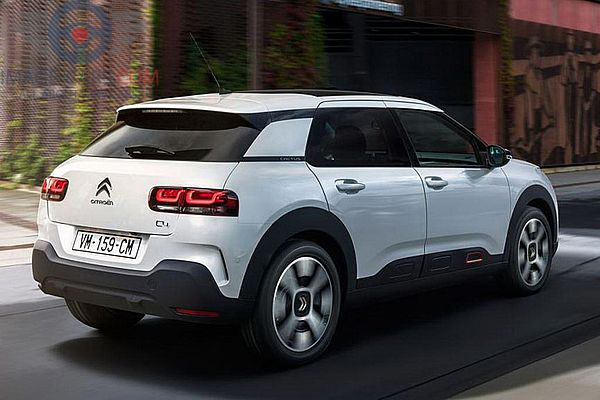 Rear Right side of Citroen C4 Cactus of 2018 year