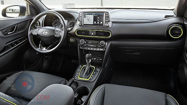 Dashboard view of Hyundai Kona of 2018 year