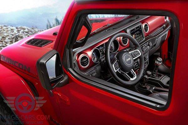 Dashboard view of Jeep Wrangler of 2018 year
