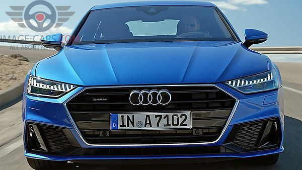 Front view of Audi A7 of 2018 year