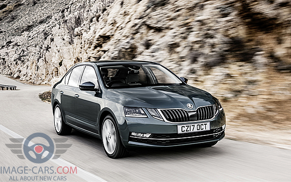 Front view of Skoda Octavia of 2018 year