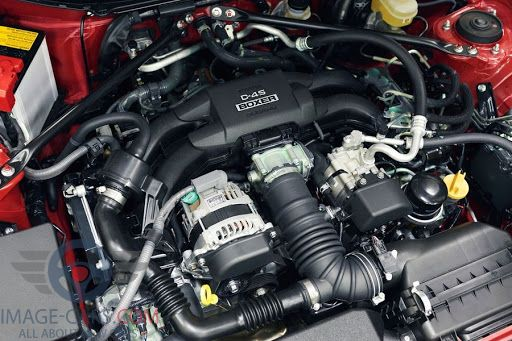 Engine view of Toyota GT86 of 2017 year
